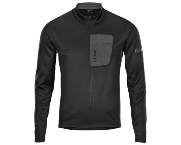 Cube ATX Jersey Full Zip longsleeve | black