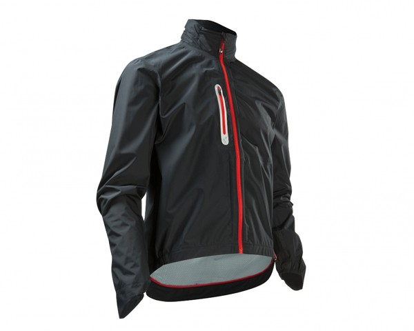 Cube Blackline Rain Jacket | black/white/red