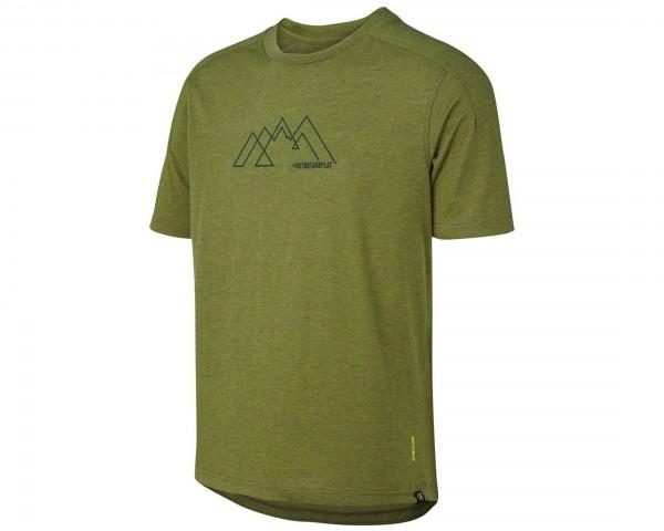 iXS Flow Tech T-Shirt Mountain Graphic | olive