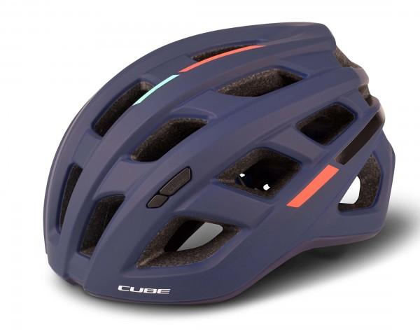 Cube Helmet ROAD RACE Teamline | blue n mint