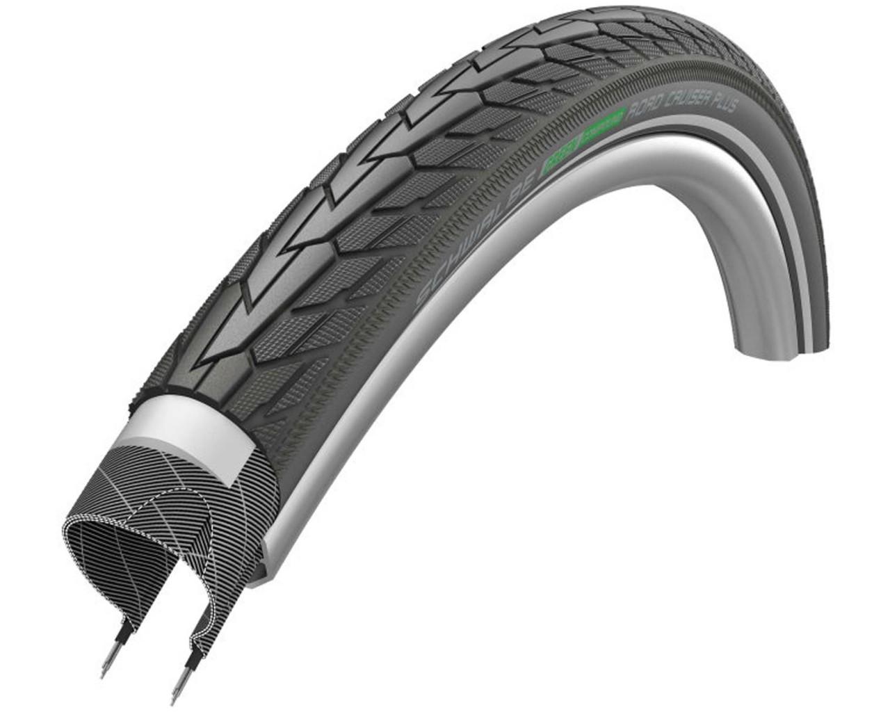 Schwalbe Road Cruiser Plus City/Touring-Tire 26x1.75 inch | black-reflex Green Compound Active Line Clincher