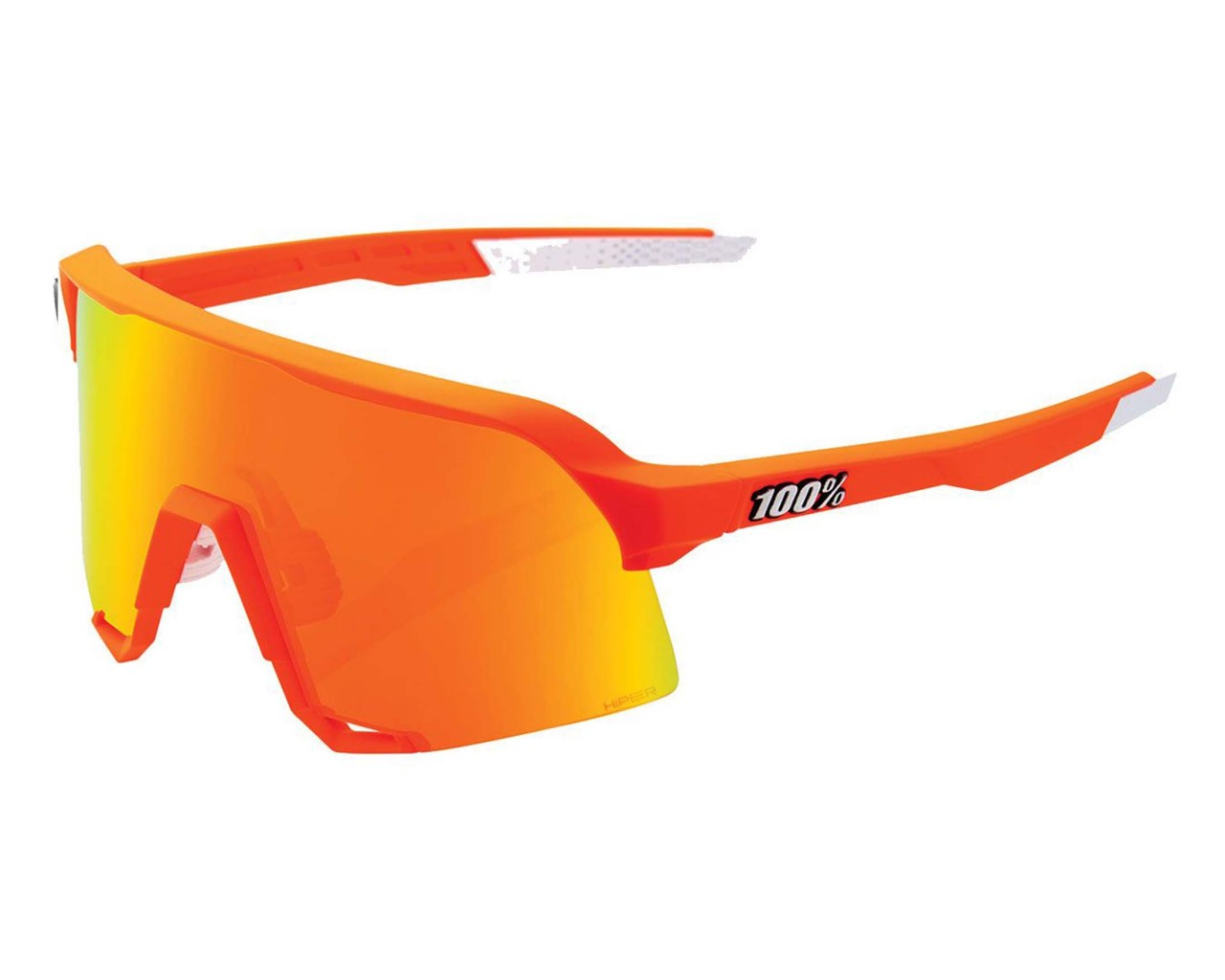 100% S3 - Hiper Mirror Lens Sports Sunglasses | neon orange