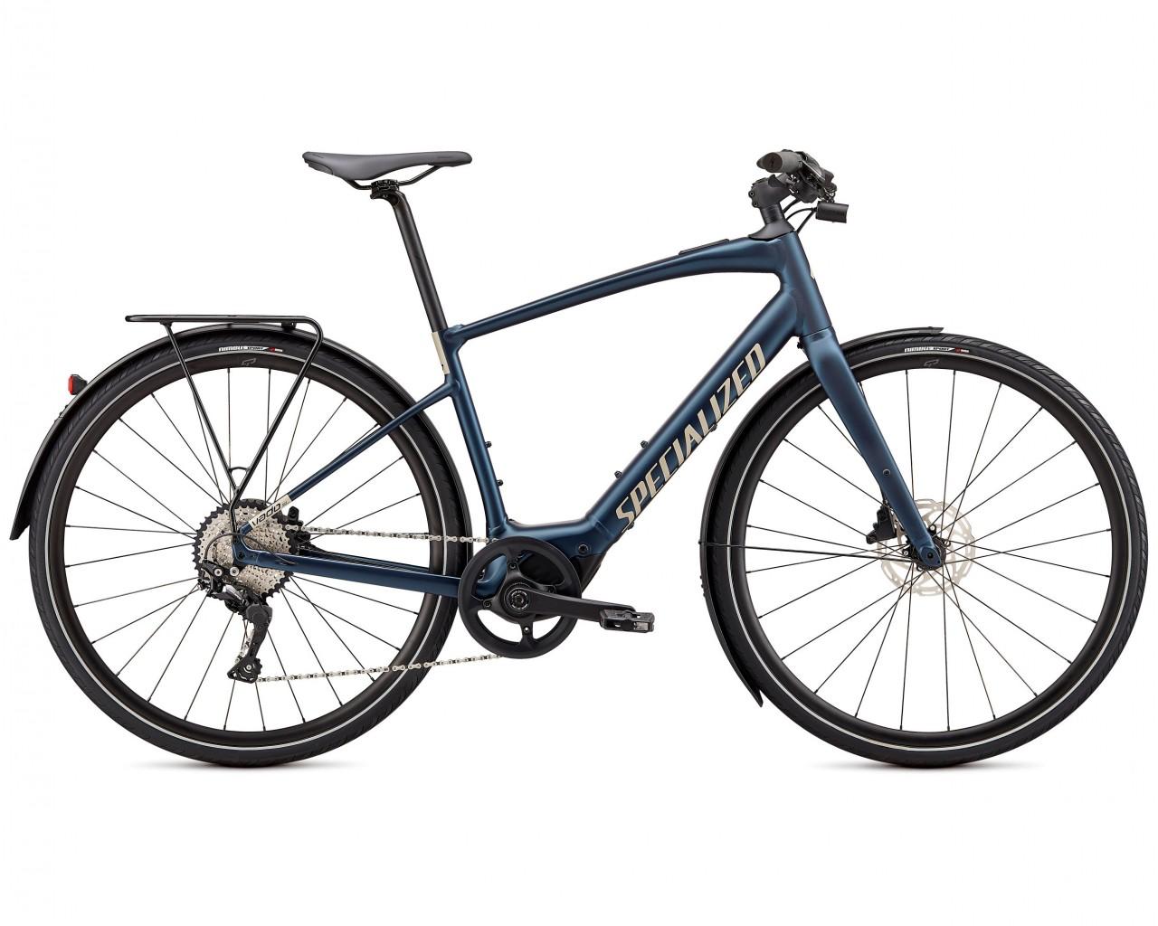 Specialized Vado SL 4.0 EQ - Elektro Trekking Bike 2021 | navy-white mountains reflective
