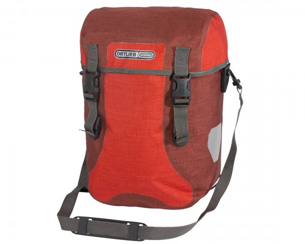 Ortlieb Sport-Packer Plus QL2.1 waterproof expedition bag (pair) PVC-free | signal red-chili