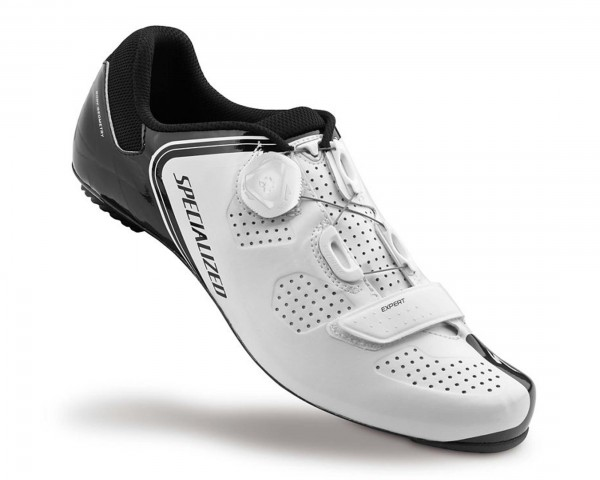 Specialized Expert Road Bike Shoes | White-Black