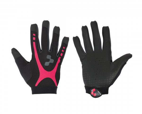 Cube Gloves WLS RACE TOUCH Woman long finger | black n raspberry n anthracite