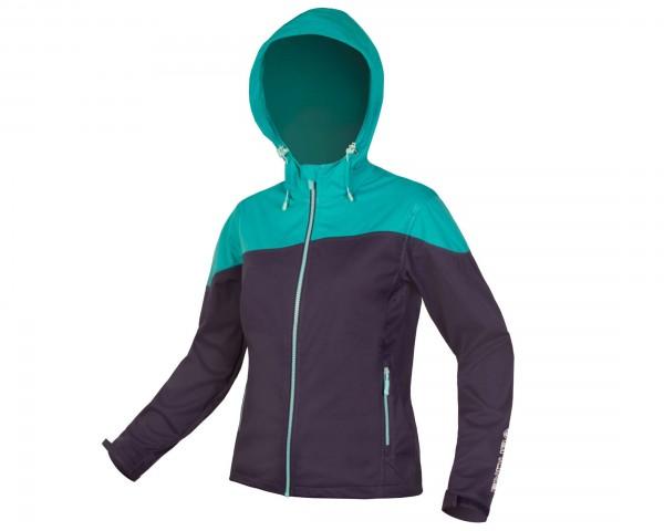 Endura Damen SingleTrack Softshell winddichte Jacke   marineblau