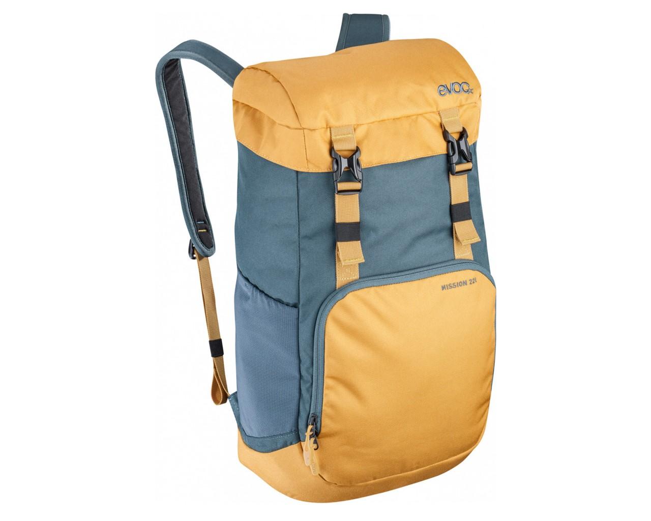 Evoc Mission 22 liter Cycling Backpack   slate-loam