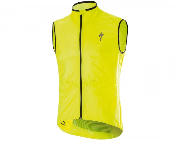 Specialized Deflect Comp Wind windproof vest | neon yellow