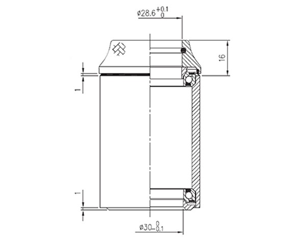 Cube Steuersatz ORBIT | mit Carbon-Kappe