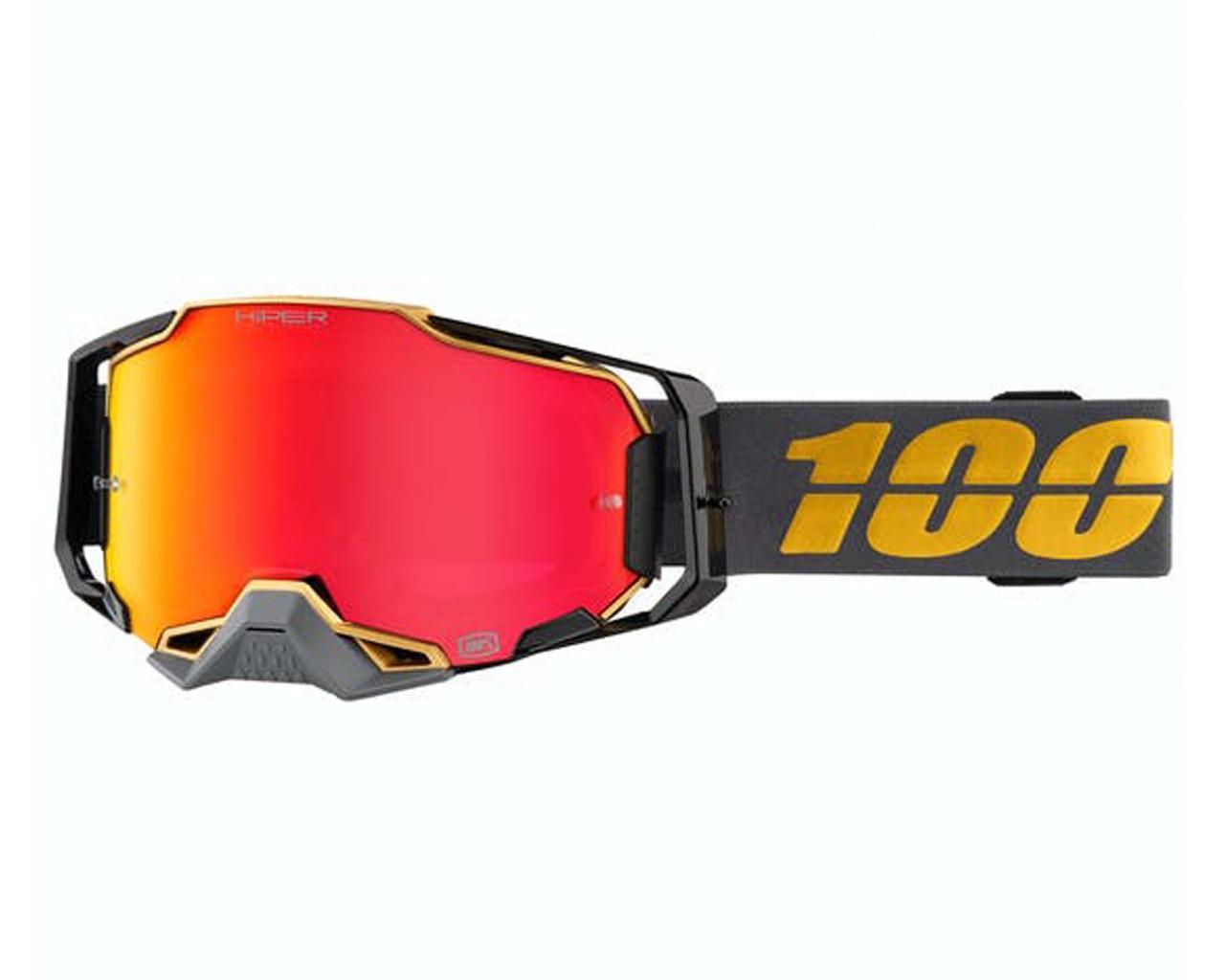 100% Armega Goggle hiper - Anti fog hiper mirror lens | Falcon 5