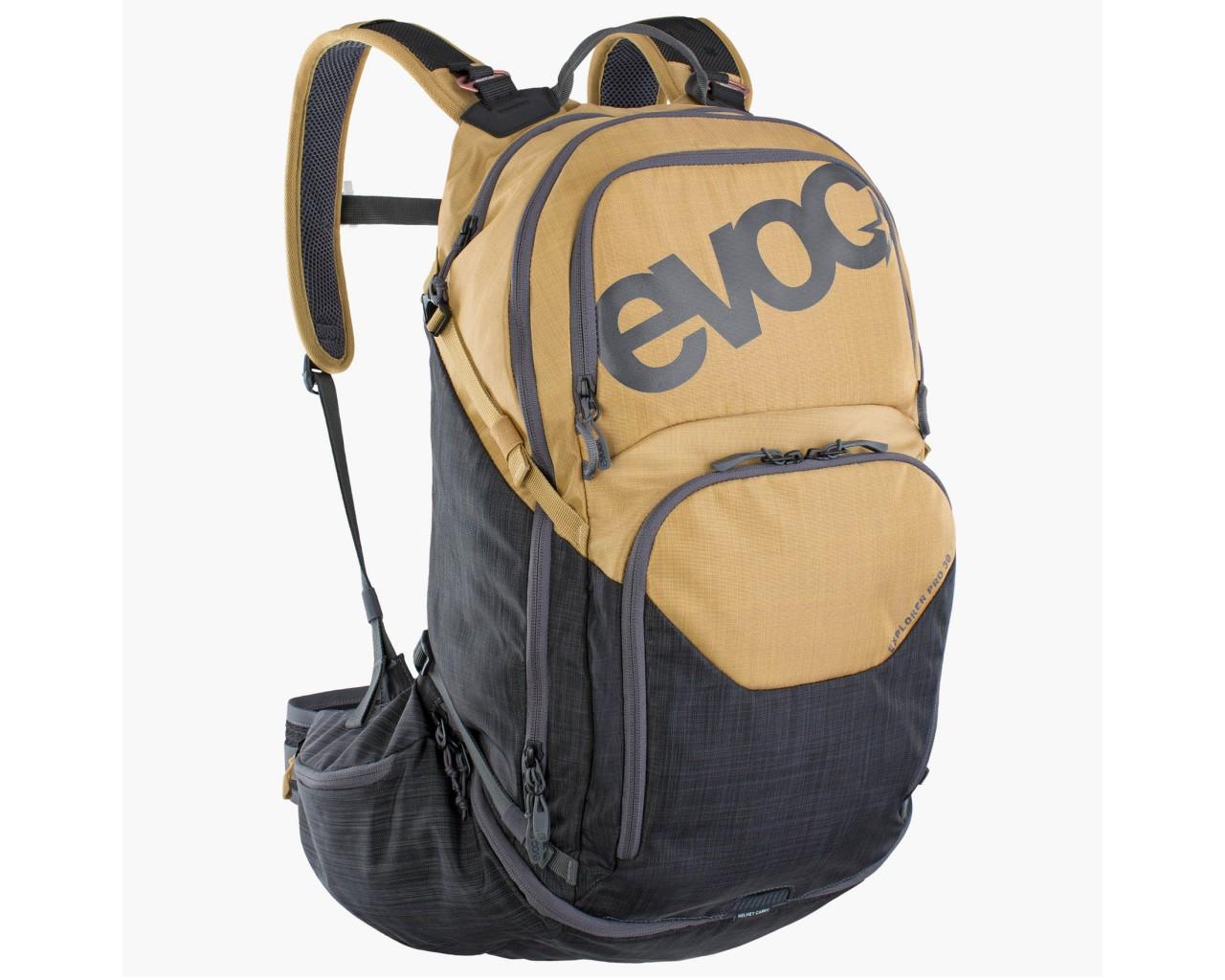 Evoc Explorer Pro 30 litres Bike Backpack   gold-carbon grey