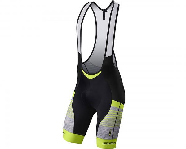 Specialized SL Expert BIB Shorts | light grey heather-neon yellow