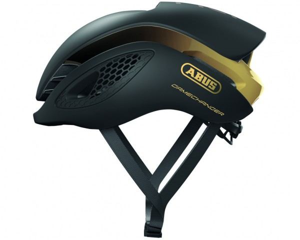 Abus GameChanger Rennrad Fahrradhelm | black gold