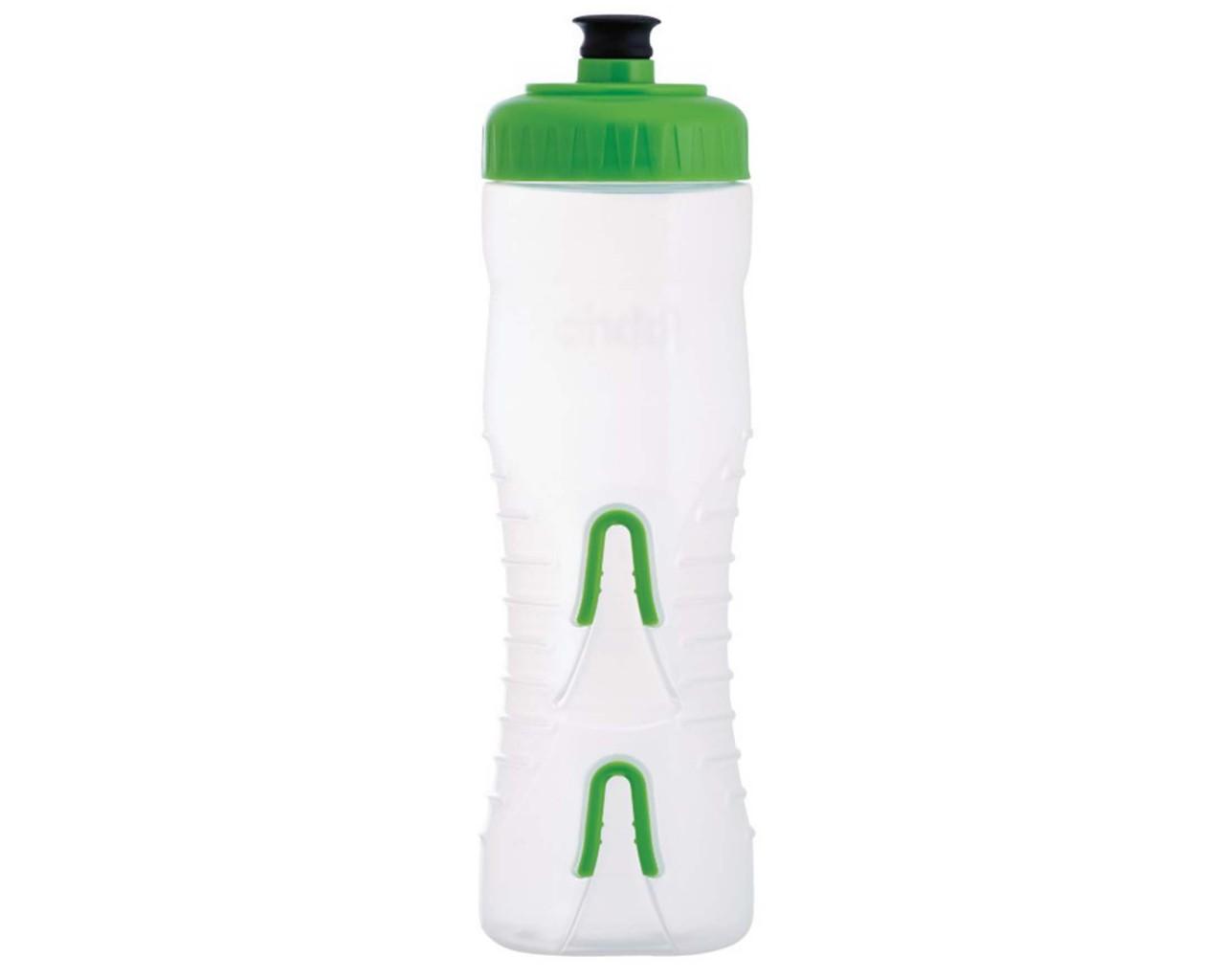 Fabric Wasserflasche mit integriertem Halter 750 ml | clear-green