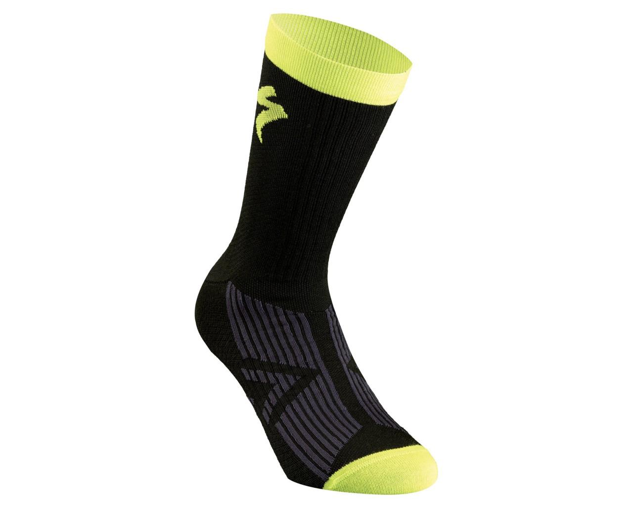 Specialized SL Elite Winter Socks | black-hyper green