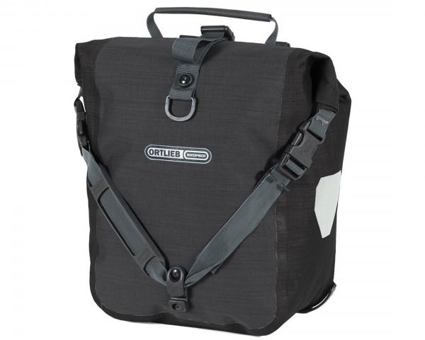 Ortlieb Front-Roller Plus QL2.1 waterproof cycle bags (pair) PVC-free | granite-black