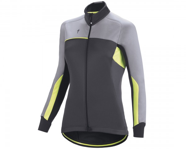 Specialized Element RBX Comp Damen Jacke | anthracite-light grey-neon yellow
