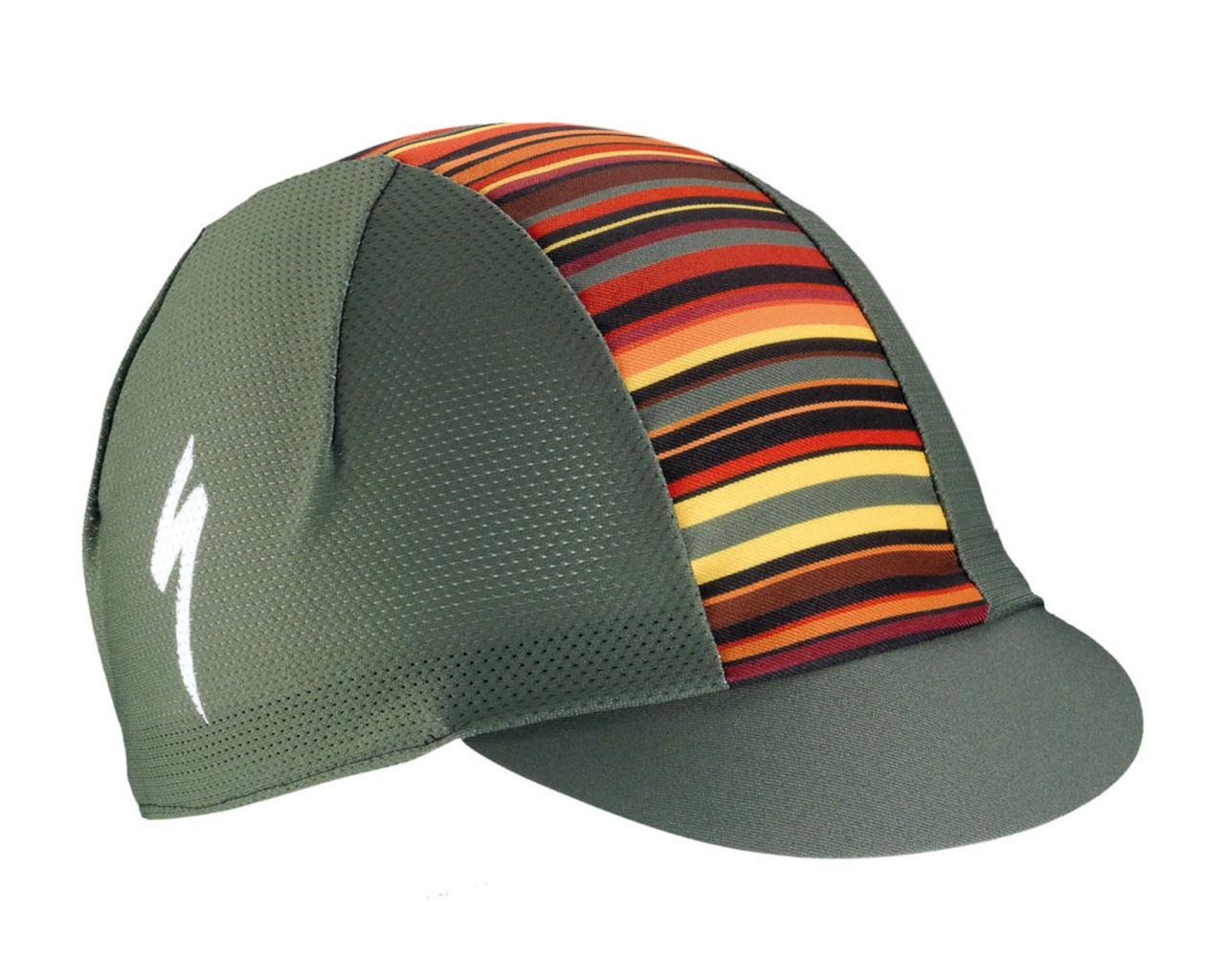 Specialized Cycling Cap Light Printed Stripes | military green