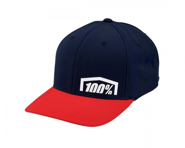 100% Revolt X-Fit Flexfit Hat | red
