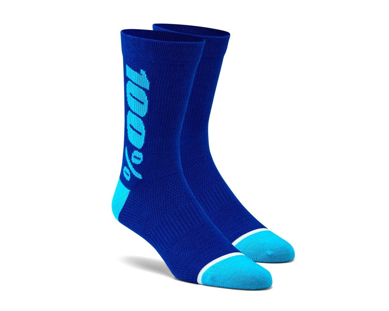 100% Rythym Socks   blue