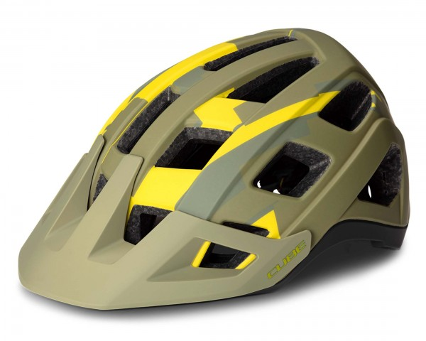 Cube Helm Badger MTB Fahrradhelm | green camo