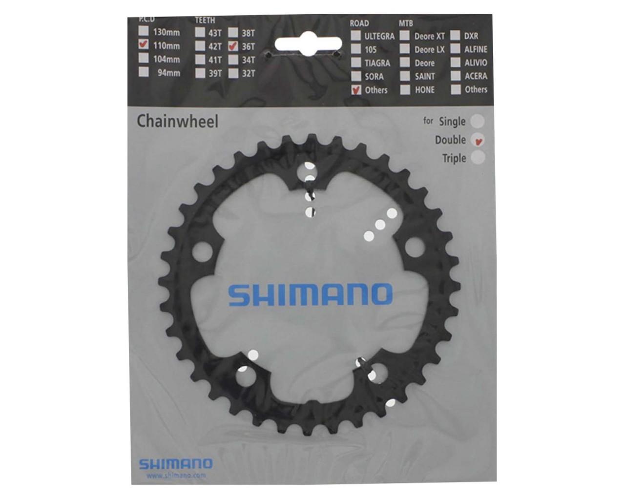 Shimano Chainring Road FC-CX50 110 mm PCD 36 teeth | black