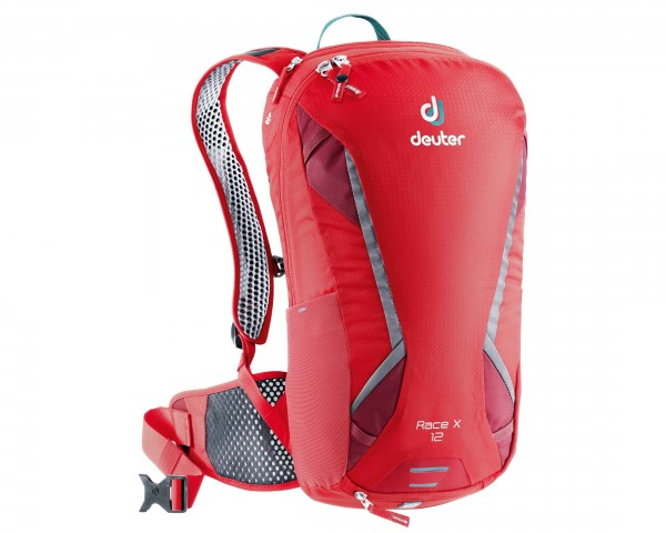 Deuter Race X 12 litres Bike backpack | chili-cranberry