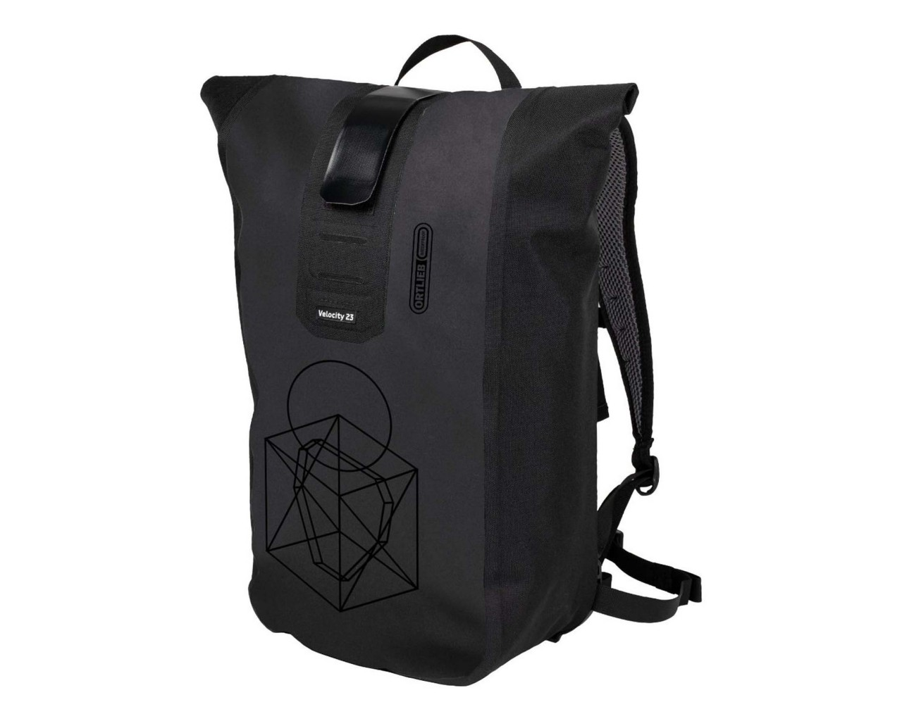 Ortlieb Velocity Design 23 litres waterproof bycicle backpack | Symmentry-black matt