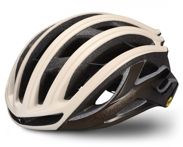 Specialized S-Works Prevail II Vent Helmet with ANGI & MIPS | matte sand-gloss dopio