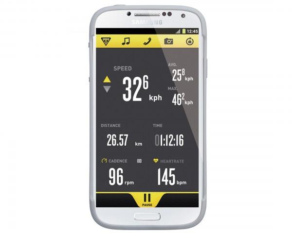Topeak RideCase für Samsung Galaxy S4 mit Halter | Weiß