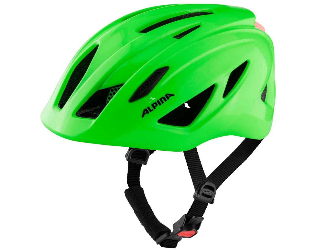 Alpina Pico Flash Kids Bike Helmet   neon green gloss 50-55