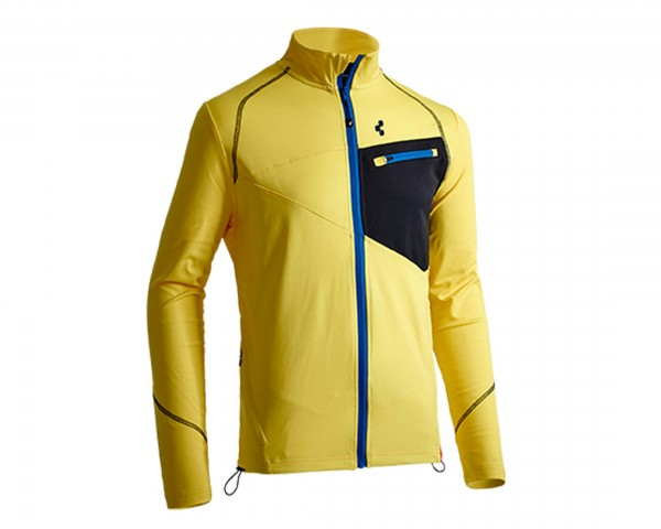 Cube Powerstretch Jacke After Race | gelb/blau