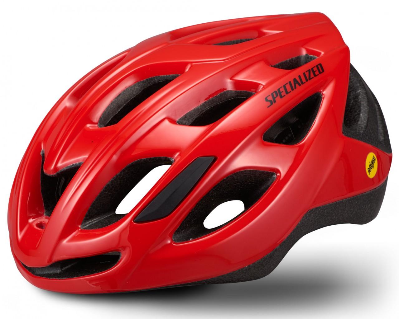 Specialized Chamonix Road Bike Helmet   flo red