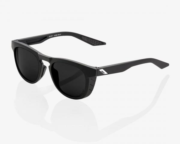 100% Slent - Peakpolar Lens Fahrrad Sonnenbrille   soft tact black