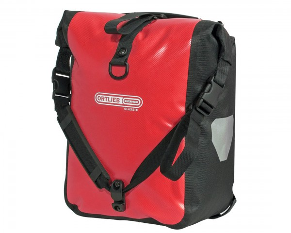 Ortlieb Front-Roller Classic QL2.1 waterproof cycle bags (pair) | red-black