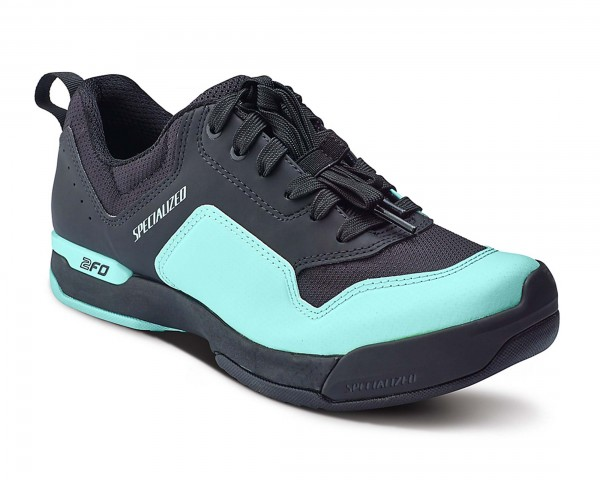 Specialized Womens 2FO Cliplite Lace MTB Shoes | black-turquoise