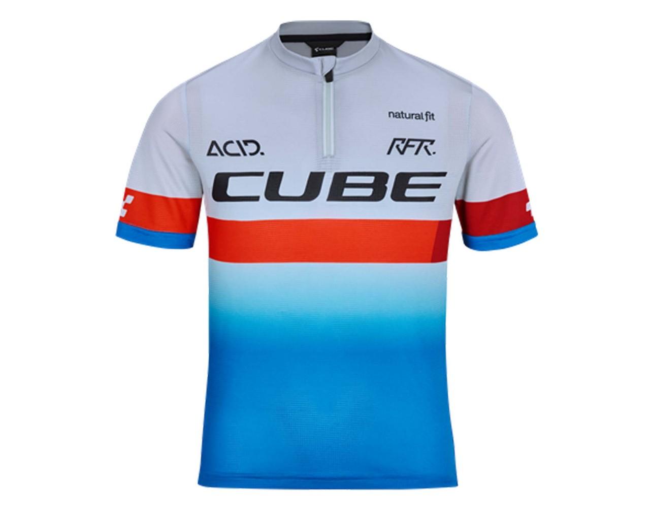 Cube Junior Teamline Jersey shortsleeve | blue n red n grey