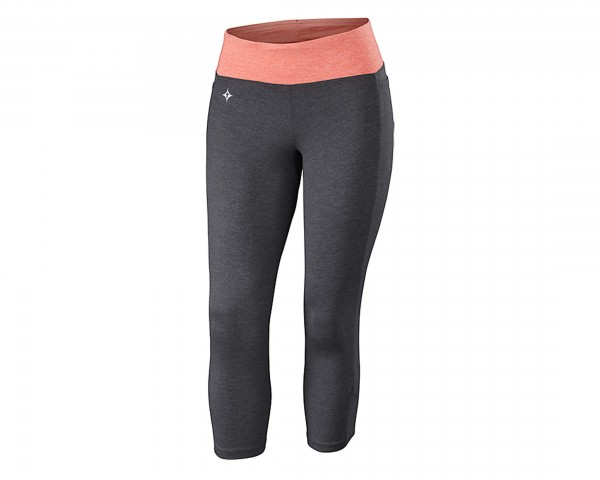 Specialized Shasta 3/4 Tights Womens | carbon grey-coral heather