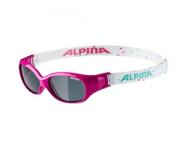 Alpina Sports Flexxy Kinder Sonnenbrille | pink dots