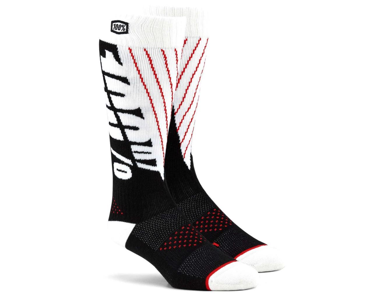 100% Torque Comfort Moto Socken | black-white