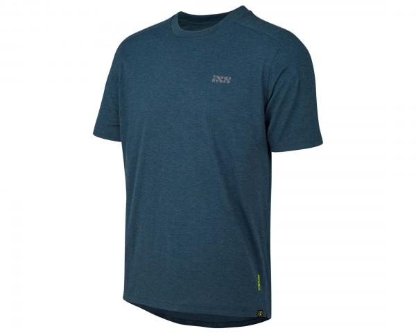 iXS Flow Tech T-Shirt Brand Logo   marine