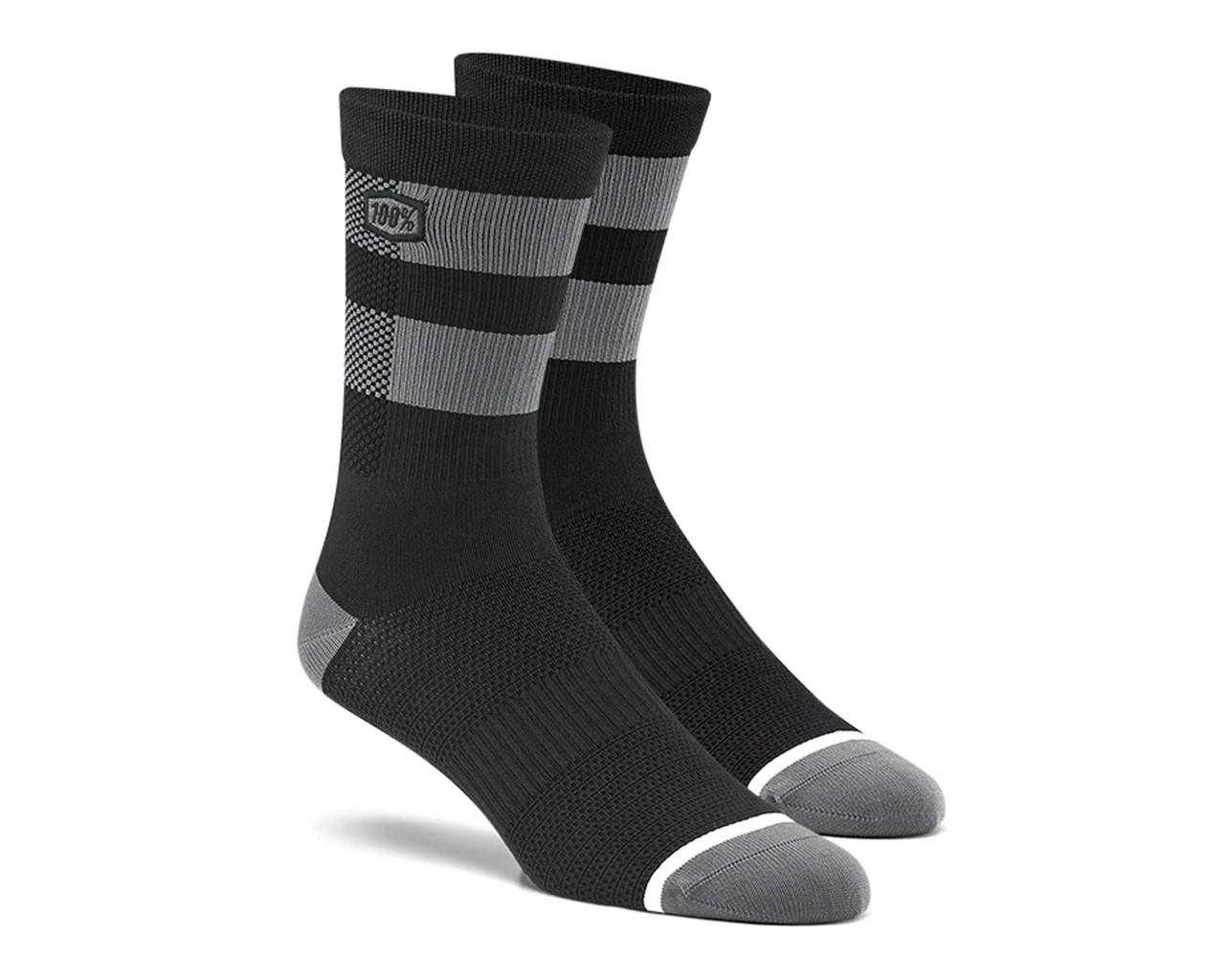 100% Flow Socks | black-grey