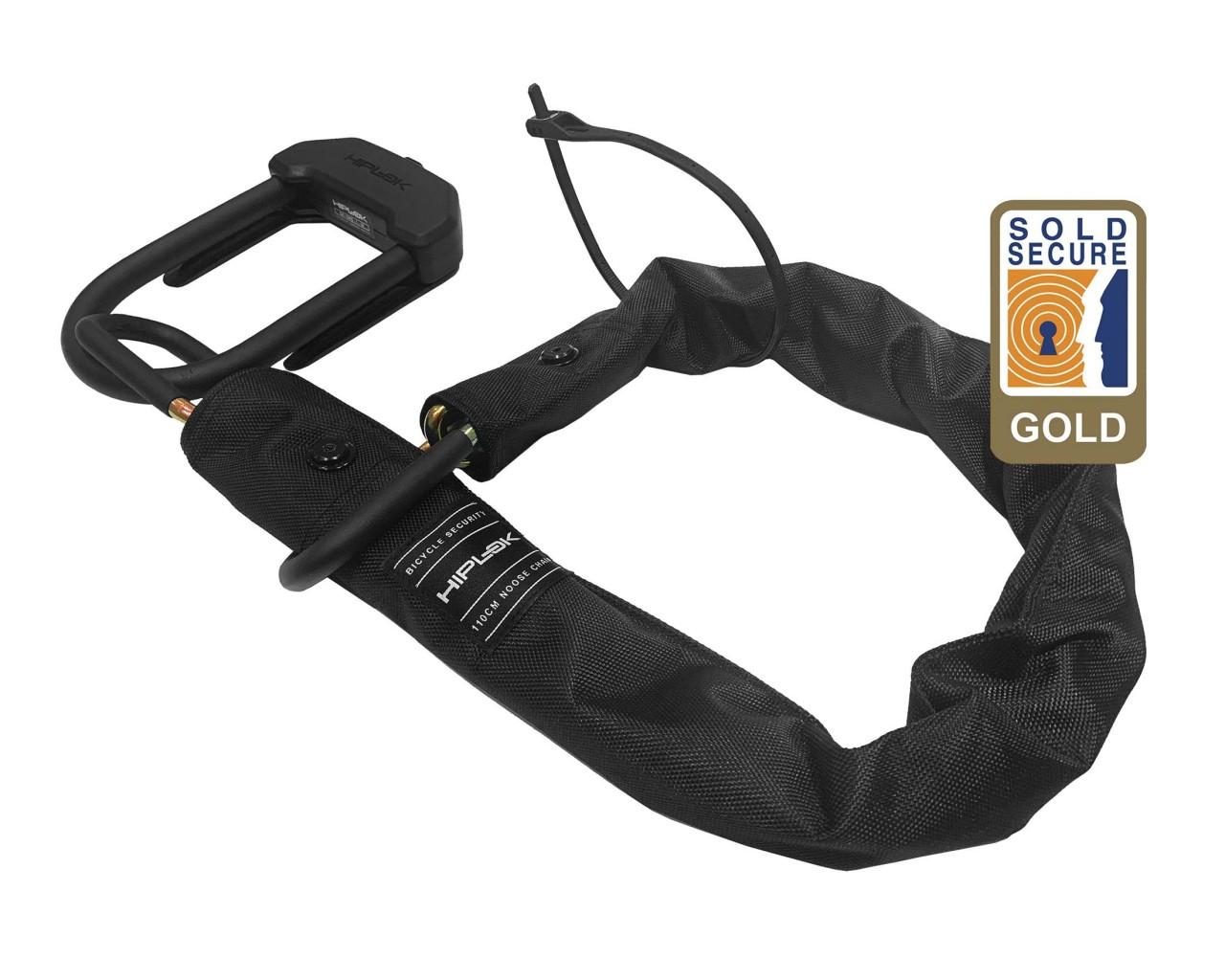 Hiplok E-DX,10mm/110cm noose chain, incl. 1x D-Lock & 1x Z-Lok   all black