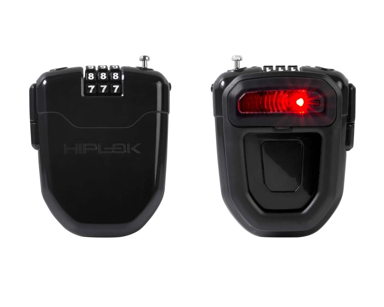 Hiplok FLX Wearable Retractable Combination Lock | black