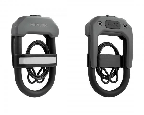 Hiplok DXC Larger Wearable D Lock - tragbares Bügelschloss inkl. Kabel   grey