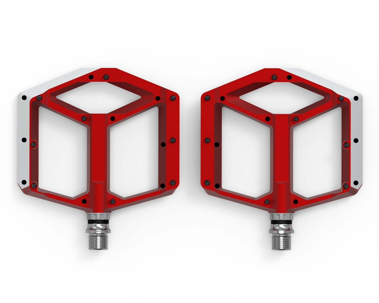 Cube ACID Pedals FLAT A1-CB (pair) | red