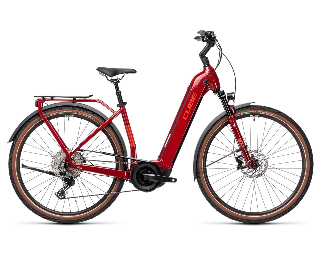 Cube Touring Hybrid EXC 500 29 Easy Entry - Pedelec Trekking Bike 2021 | red n grey