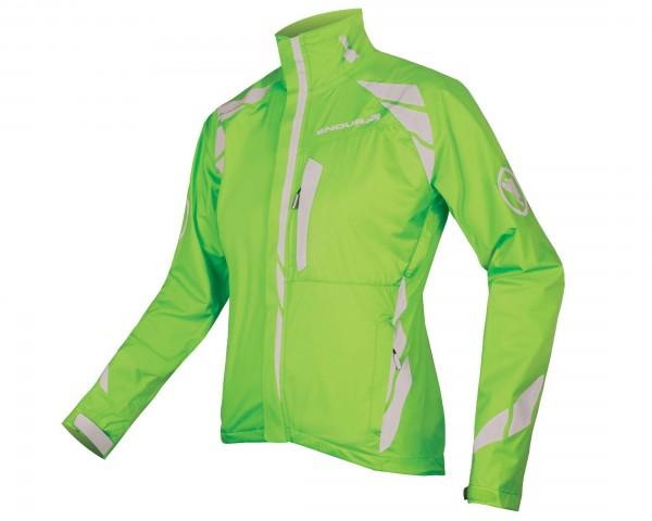 Endura Womens Luminite II waterproof jacket | hi-viz green