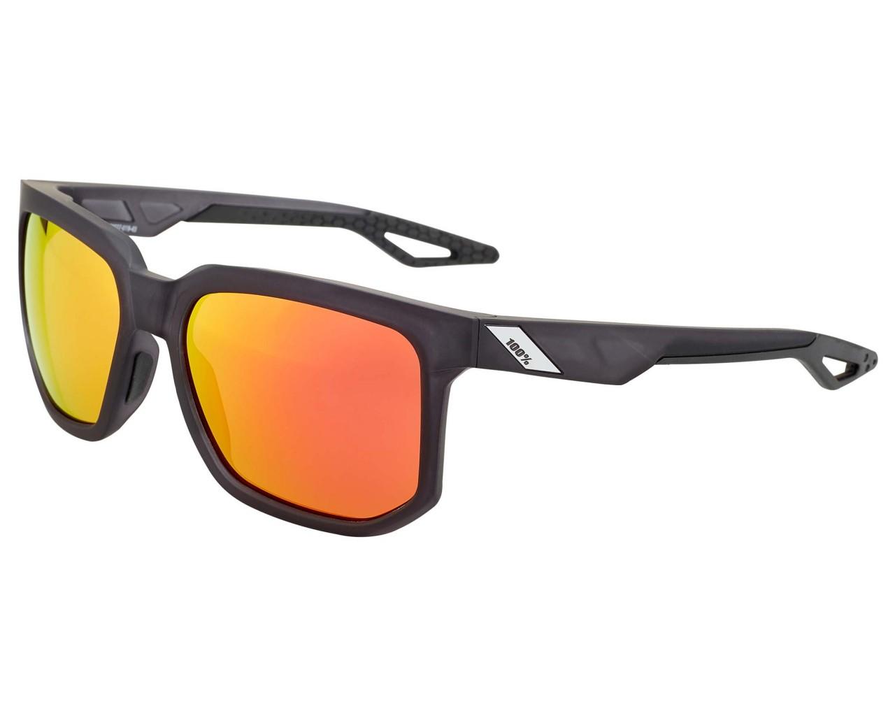 100% Centric HD Red Multilayer/Hiper Lens Sunglasses | matte crystal black